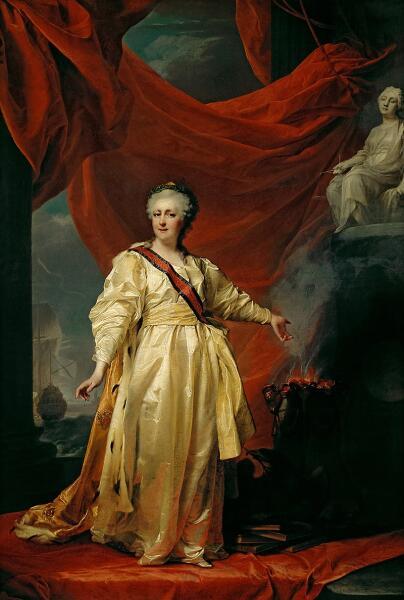 Д. Г.Левицкий, «Екатерина II – законодательница в храме богини Правосудия», 1783 г.