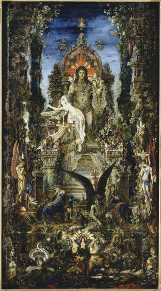 Густав Моро, «Юпитер и Семела», 1894—1895 гг.