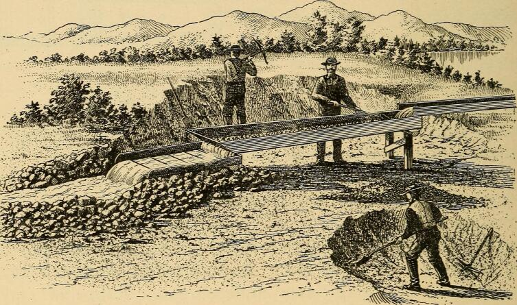 Шлам при промывке руды, 1897 г.