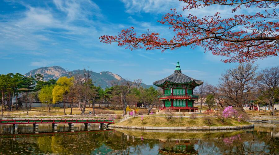 Павильон Хёнвончжон, дворец Кёнбокгун, Сеул, Южная Корея