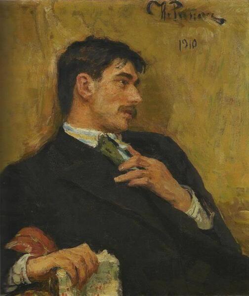 И. Е. Репин, «Портрет Корнея Чуковского», 1910 г.