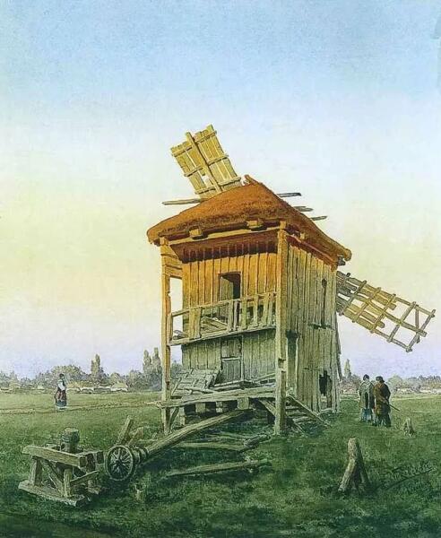 В. Е. Маковский, «Ветряная мельница», 1881 г.
