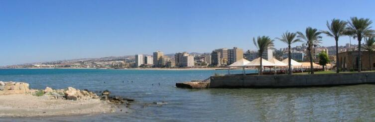 Вид на город Сайда (в древности Сидон). Ливан