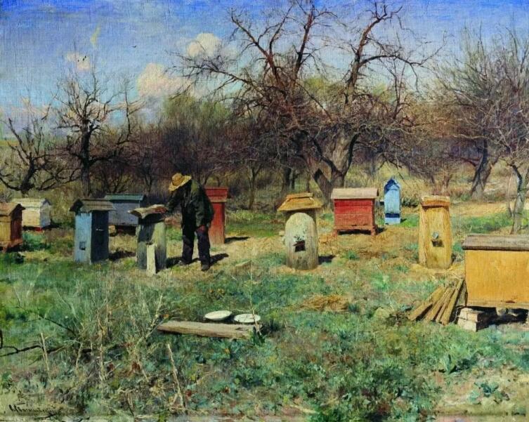 С. И. Светославский, «Весенний день. Пасека», 1899 г.
