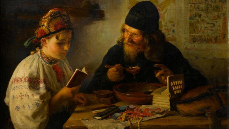 В. Е. Маковский, «Отдых на пути из Киева», 1888 г.