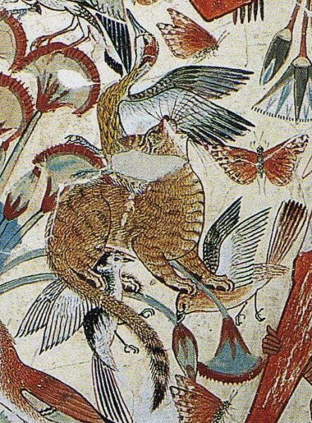 Фрагмент из сцены охоты в гробнице Небамона (XV—XIV века до н. э.)