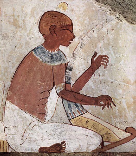 Слепой арфист. Надгробие, 2040-1640 до нашей эры