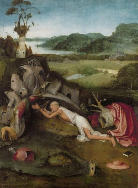 Иероним Босх, «Святой Иероним за молитвой», XVI век