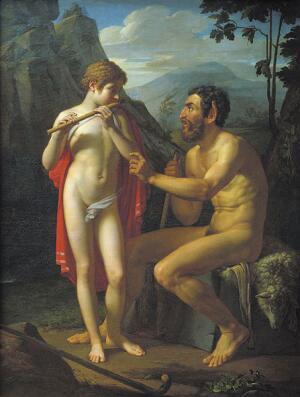 П. В. Басин, «Фавн Марсий учит молодого Олимпия игре на свирели»
