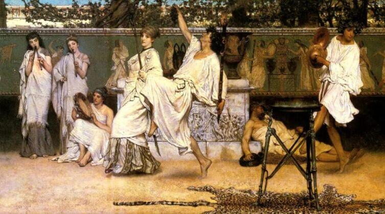Лоуренс Альма-Тадема, «Вакханалия», 1871 г.