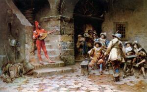 Народный праздник (средневековая миниатюра)