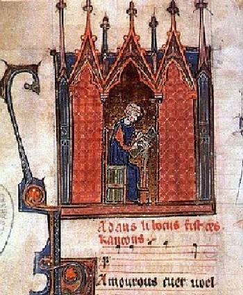 Адам де ля Аль. Средневековая миниатюра