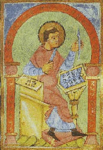 Ноткер Заика. Средневековый манускрипт