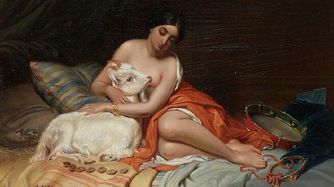 Предполагаемый автор Томас Сидни Купер, «Эсмеральда и ее козел Джали»