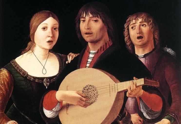Лоренцо Коста, «Концерт» (фрагмент), ок. 1495 г.