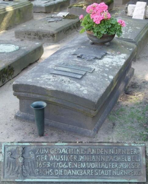 Могила Пахельбеля на кладбище Рохус (Rochuskirchhof) в Нюрнберге