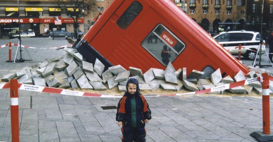 Первоапрельский пранк, в честь строительства метро в Копенгагене в 2001 г.