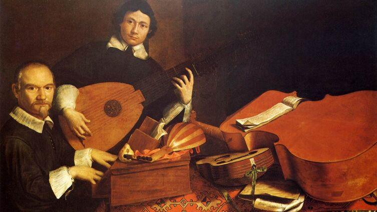 Картина Эваристо Башениса (автор слева), ок. 1650 г.