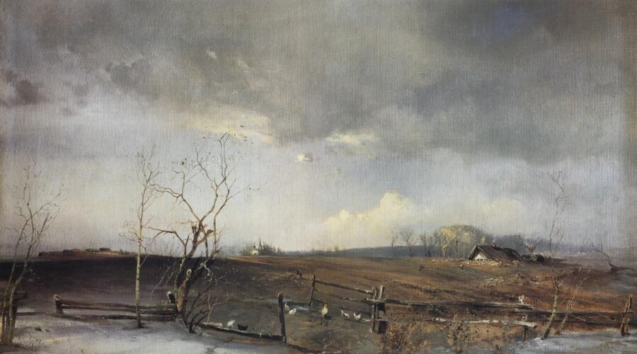 А. К. Саврасов, «Весна. Огороды», 1893 г.