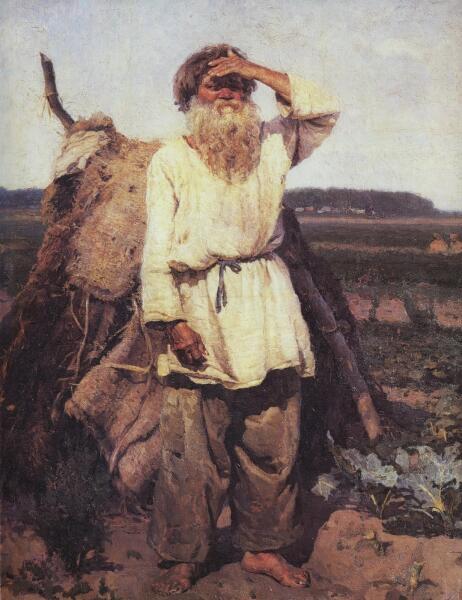 В. И. Суриков, «Старик-огородник», 1882 г.