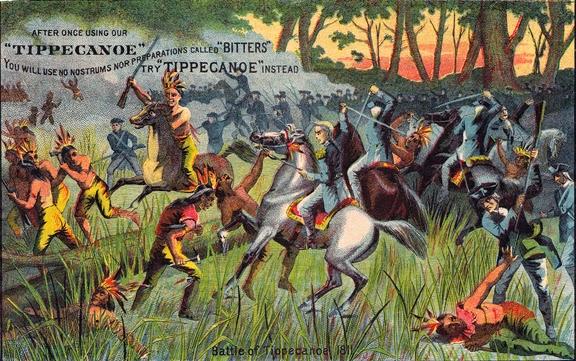 Битва при Типпекану. Картина Алонзо Чаппеля