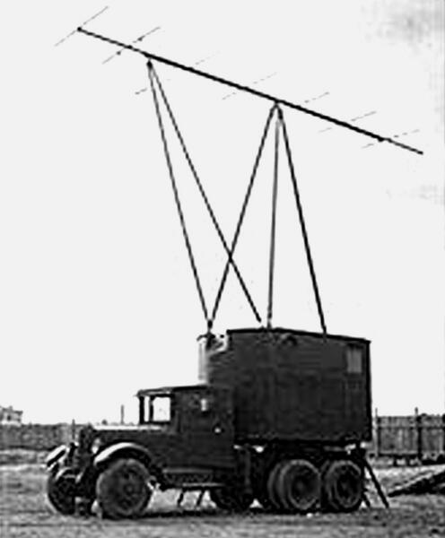Радиолокационная станция РУС-2 «Редут-40» на поворотной платформе