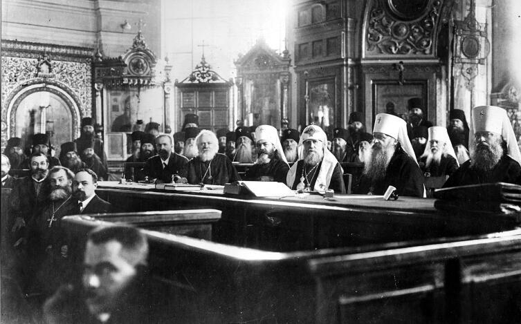 Заседание Поместного собора Православной российской церкви (1917—1918) в Московском епархиальном доме