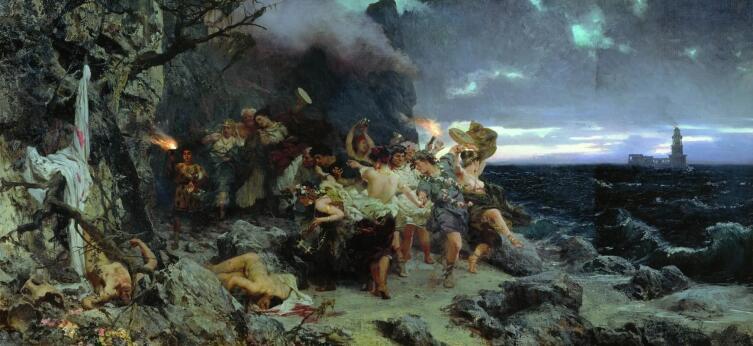 Г. И. Семирадский, «Оргия времен Тиберия на острове Капри», 1881 г.