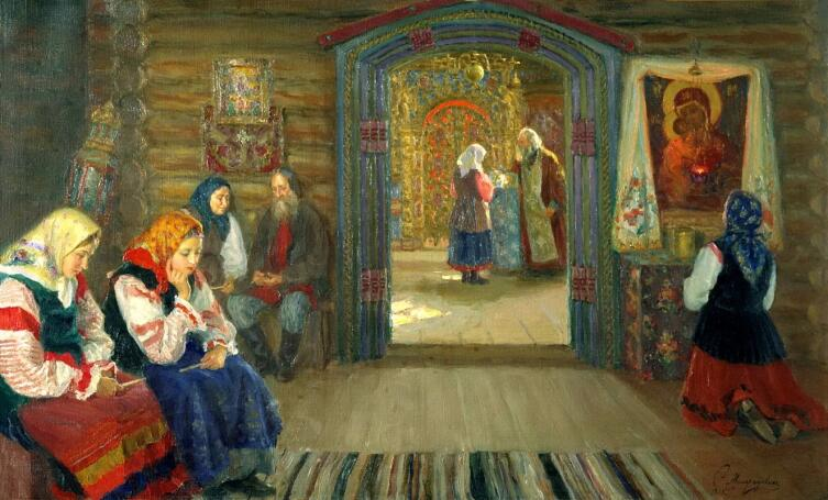 С. Д. Милорадович, «У исповедника», 1915 г.