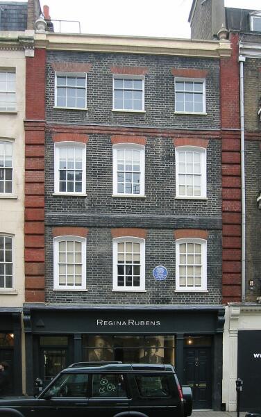 Дом Генделя на Брук-стрит, 25, Мейфэр, Лондон
