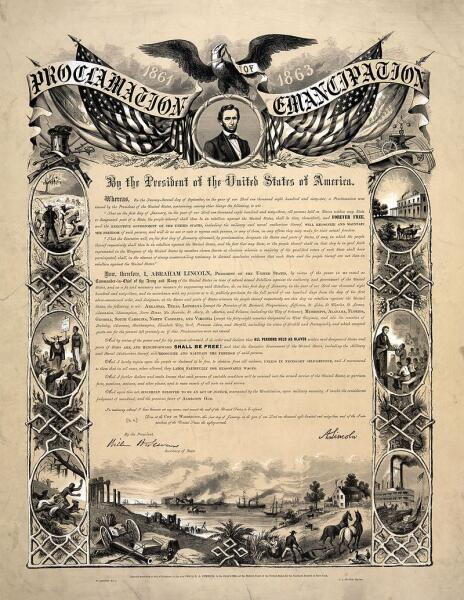 Репродукция прокламации об освобождении рабов в Цинцинати