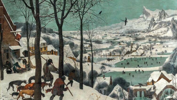 Питер Брейгель Старший, «Охотники на снегу. Цикл «Времена года», январь», 1565 г.
