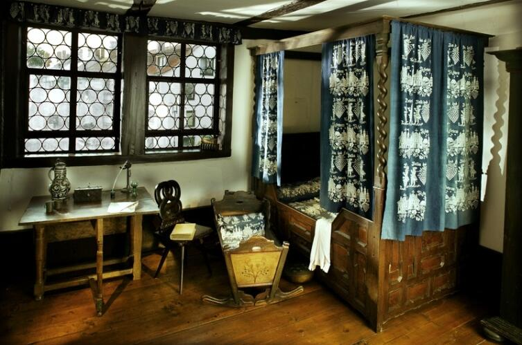 Спальня в доме Баха (г. Эйзенах)