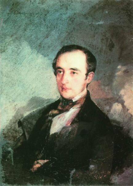 Предполагаемый портрет В. Ф. Одоевского кисти И. Макарова