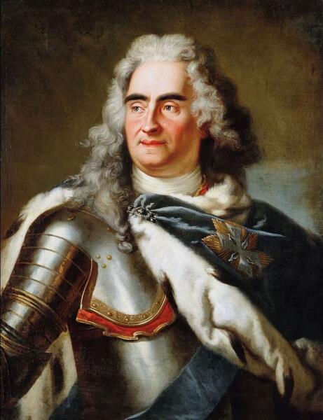 Луи де Сильвестр, «Портрет короля Августа II Сильного (также Фридрих Август I Саксонский и Август II Польский)»