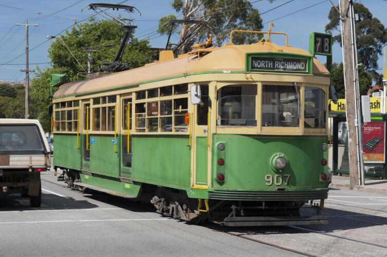 Старый трамвай в Мельбурне