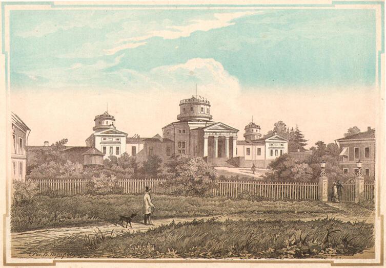 Пулковская обсерватория в 1855 г.