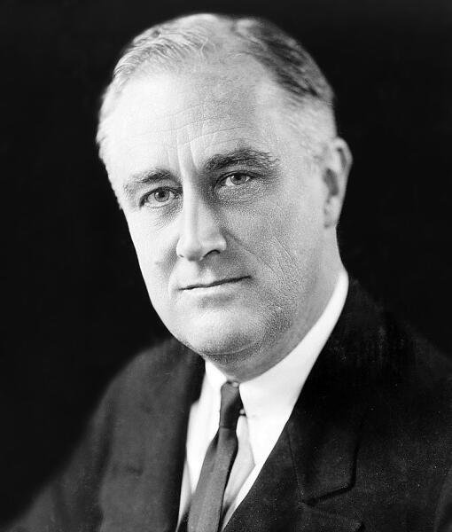 32-й президент США Франклин Делано Рузвельт