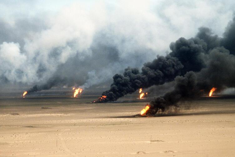 Пожары на нефтяных скважинах Кувейта