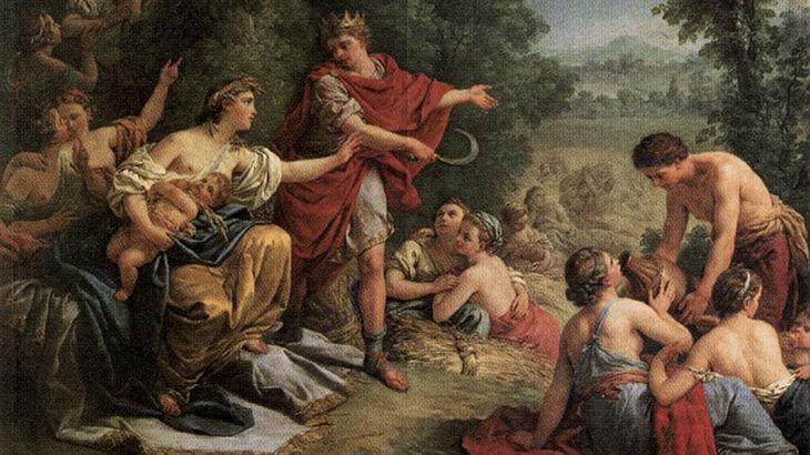 Луи Жан Франсуа Лагрене, «Деметра обучает Триптолема земледелию»