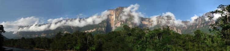 Панорама водопад Анхель, Венесуэла