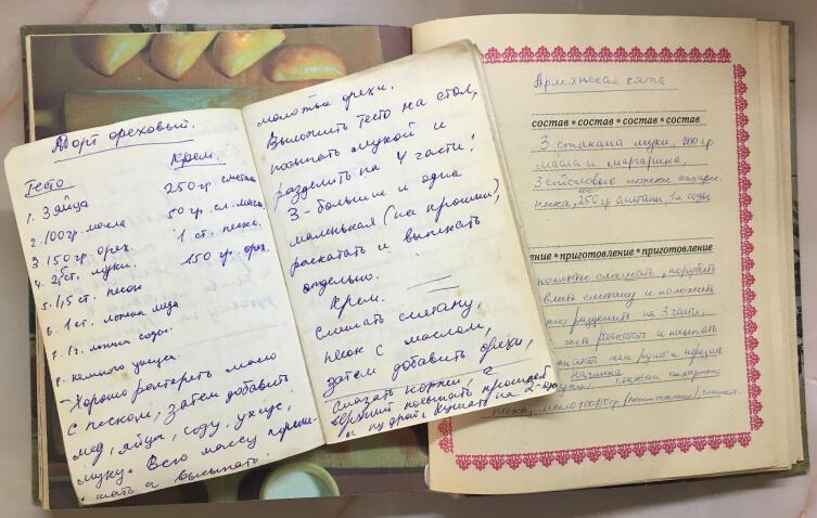 Книга рецептов и записная книжка с рецептами
