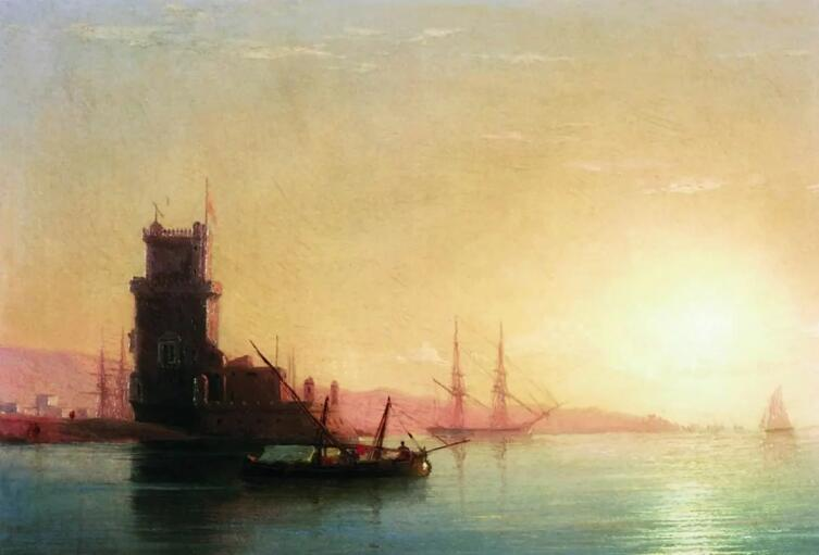 И. К. Айвазовский, «Лиссабон. Восход солнца»