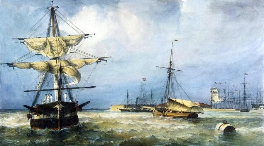 Фердинанд-Виктор Перро, «Вид Кронштадтской гавани»