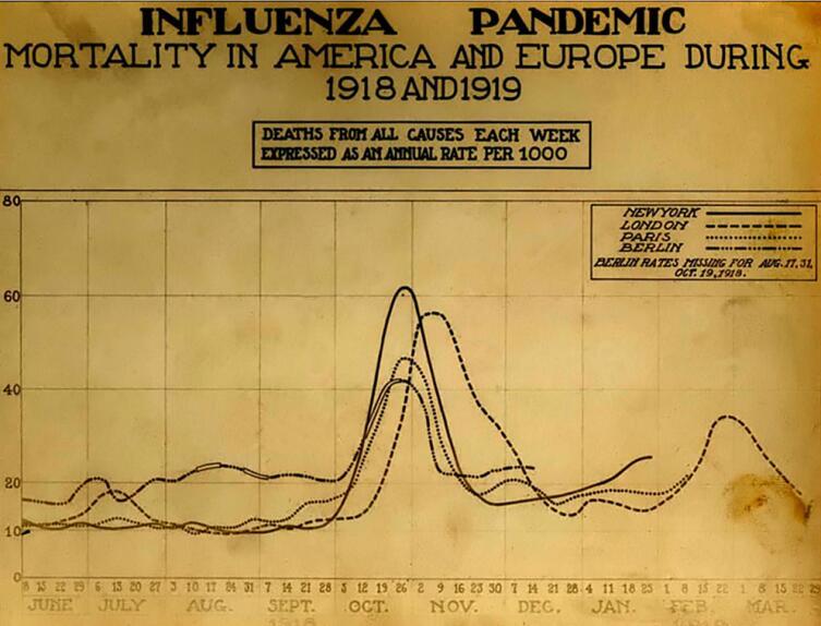 График смертности по неделям: Лондон, Нью-Йорк, Париж, Берлин