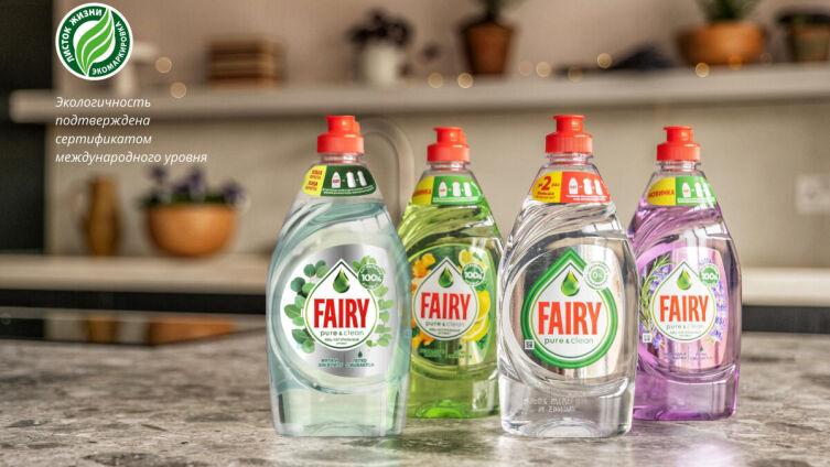 Продукция Fairy Pure&Clean
