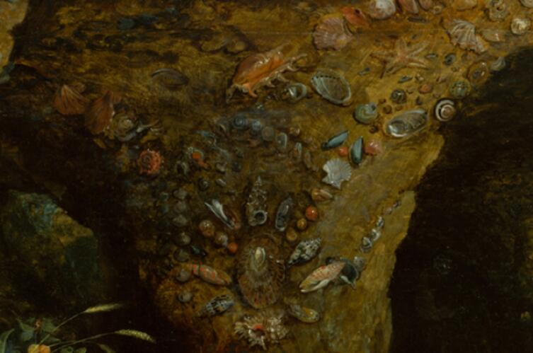 Рубенс, Пир Ахелоя, фрагмент «Раковины на потолке пещеры»