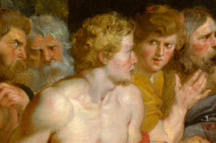 Рубенс, Пир Ахелоя, фрагмент «Тезей»