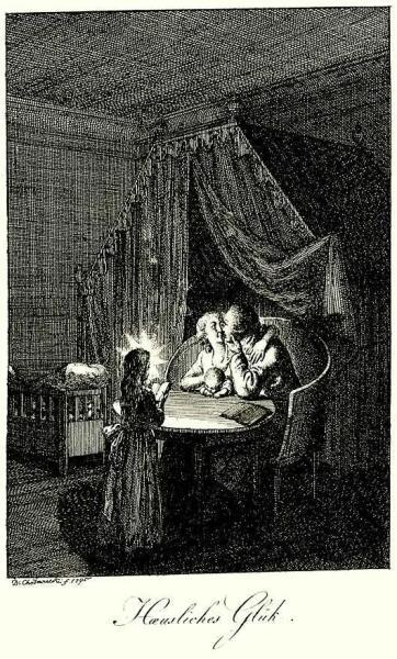 Даниэль Николай Ходовецкий, «Счастье в доме», 1795 г.