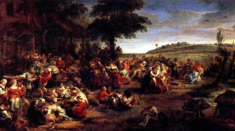 Питер Пауль Рубенс, «Сельская свадьба», 1638 г.<br />